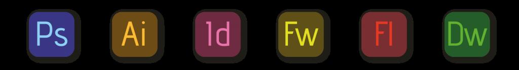 Graphic design Adobe software icons